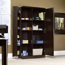 sauder homeplus four shelf storage cabinet sauder homeplus storage cabinet swing out door http