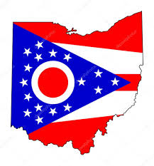 A Map Of Ohio by State Of Ohio Flag Map U2014 Stock Photo Speedfighter17 39734565