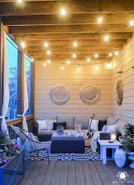Lights On Patio Twinkle Lights On The Back Porch Makes For Cozy Outdoor Living