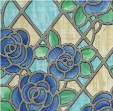 Decorative Window Film Stained Glass Amiens Blue Stained Glass Decorative Window Film Self Adhesive