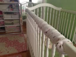 crib teething rail guard pattern curtain ideas