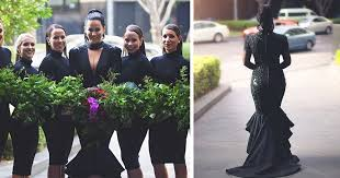 black wedding dresses breaks tradition and gets married in black wedding dress