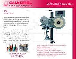 manual label applicator machine q60 label applicator quadrel labeling systems pdf catalogue