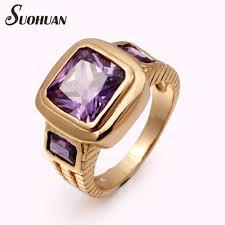 rose gold wedding set amethyst wedding rings irish wedding rings purple amethyst engagement