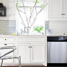 pictures of subway tile backsplashes in kitchen white kitchen cabinets with gray subway tile backsplash