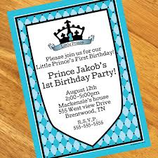 royal prince 1st birthday personalized invitations at dollar carousel