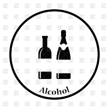 black and white champagne bottle clipart wine and champagne bottles icon vector clipart image 122382