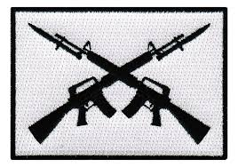 2nd Amendment Flag Amazon Com Ar 15 Crossed Assault Rifles Iron On Patch Embroidered