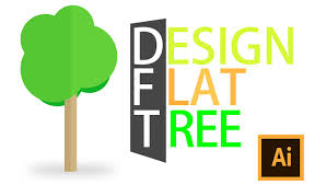 illustrator tutorials design flat flat tree