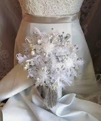 winter wedding bouquet snowflake bouquet winter bridal