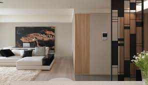 interior modern living room and nice steel room divider with
