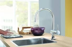 minta single handle pull down high arc kitchen faucet touch on