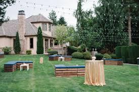 chic backyard cocktail party wedding party wedding bistro