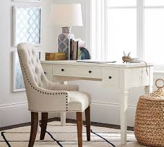 Glass Vanity Table With Mirror Meredith Vanity Desk Pottery Barn