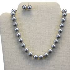 choker necklace with pearls images Jewelry swarovski pearl choker light grey jpg