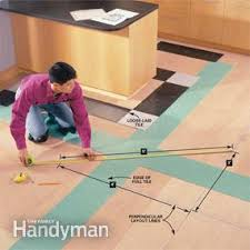 how to lay a vinyl tile floor family handyman