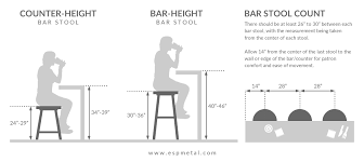 what height bar stool for 36 counter how to choose the right bar stool height esp metal products crafts