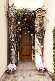 deco entree exterieur décoration halloween entree