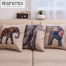 colorful pillows for sofa aliexpress com buy 1pcs lot elephant printed linen cushion cover