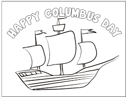this columbus day coloring page is a good prop as you talk to