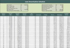 Payment Schedule Excel Template Loan Amortization Schedule