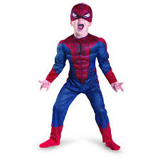 kids amazing spider man movie muscle costume not just for