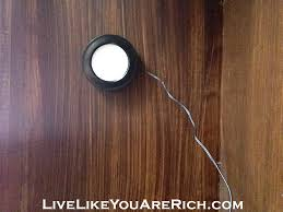 under desk hutch lighting how to install under mount lights on your hutch cabinets desk etc