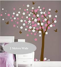 Cherry Blossom Wall Decal For Nursery 250x240cm Tree Blowing Cherry Blossom Wall Decal Nursery Tree