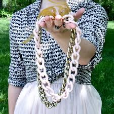 statement chain necklace images Diy painted chain statement necklace thefashionspot jpg