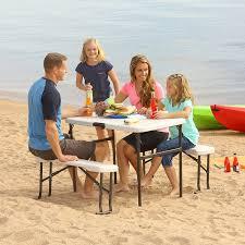 amazon com lifetime 80373 portable folding picnic table and