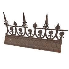 19th century iron roof ridge iron garden ornaments and