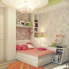 kids room peach green and cream decoration above white