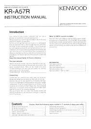 kenwood kr a57r owner u0027s manual immediate download