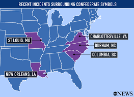 Map Of Confederate States by Recent Flashpoints In The Controversy Over Confederate Symbols