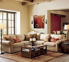 Sectional Sofa In Small Living Room Decoration Ideas Contemporary Decoration Using Beige Nuance Small