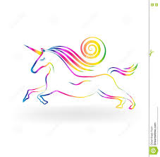 unicorn rainbow unicorn rainbow color stock vector image of farm friends 81141050