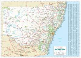 map of new south wales laminated wall maps nsw new south wales reference map sydney