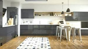 tapis de cuisine sur mesure tapis de cuisine sur mesure cuisine gris anthracite 56 idaces pour