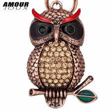 aliexpress buy new arrival cool charm vintage amourjoux vintage cool owl antique gold color pendant key chains for