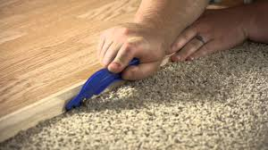 Floating Laminate Floor Over Carpet How To Install A Carpet Reducer Flooring Projects Youtube