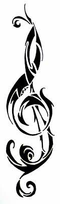 free clip treble tribal symbols tattoos clef