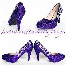 wedding shoes platform purple glitter high heels silver royal purple eggplant pumps