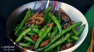 sesame soy green beans