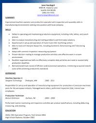 Resume Writing Samples by Sample Machinist Resume Ajac