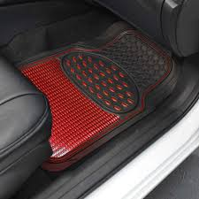 shiny metallic finish vinyl floor mats and faux leather