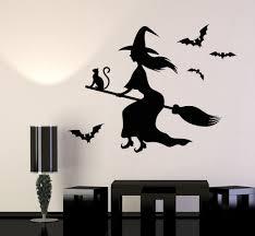 popular vinyl halloween stickers buy cheap vinyl halloween witch magic cat besom vinyl wall stickers halloween decoration wall decals living room waterproof home decor
