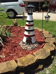 Lighthouse Garden Decor Terra Cotta Pot Lighthouse Kassie U0027s Kreations Pinterest