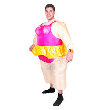 ballerina costume for men women with tiara crown funny inflatable