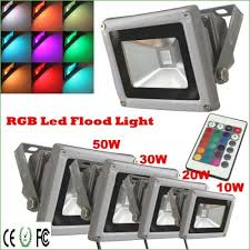 lighting rc 10w waterproof rgb led color changing flood light12v