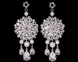 and pearl chandelier pearl chandelier earrings etsy